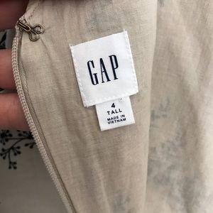 GAP Dresses - Gap Dress Linen Strapless V neck 4 Tall